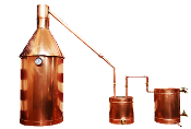 Copper Moonshine Stills by The Distillery Network Inc. Made in USA and comes with a lifetime warranty.