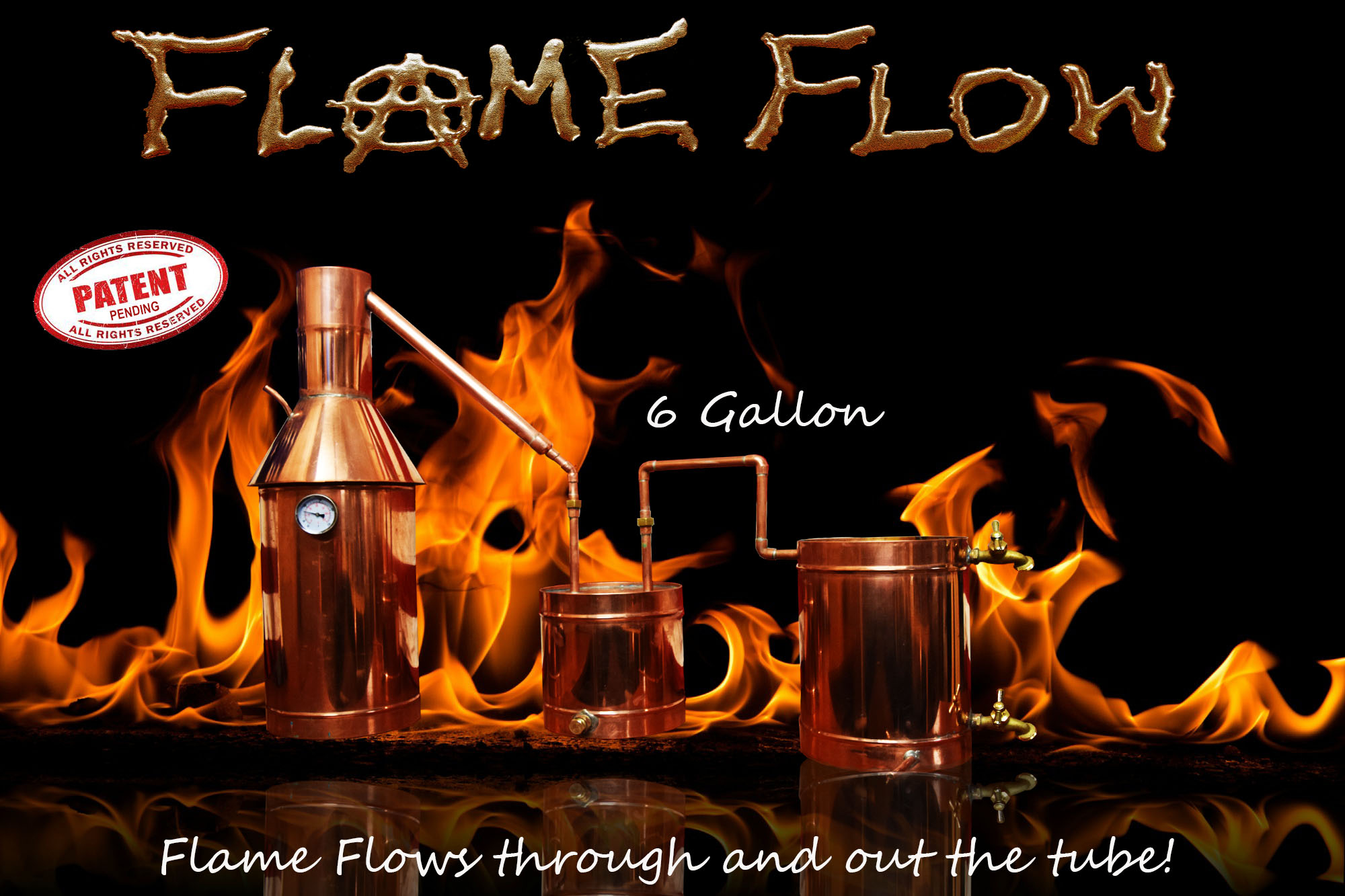 New Patent Pending Flame Flow Design Moonshine Still Diagram